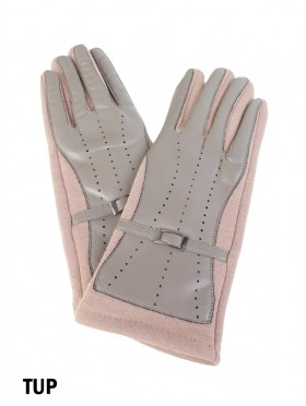 Leather Cover Touch Screen Glove