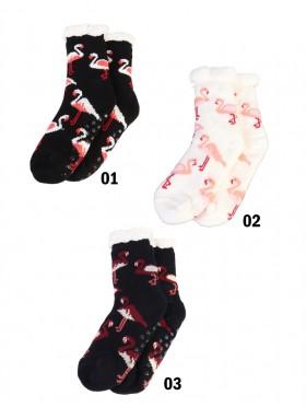 Flamingo Print Indoor Reading Socks