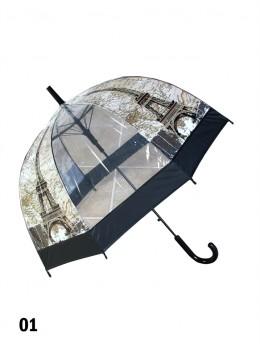 Eiffel Tower Print Stick Umbrella