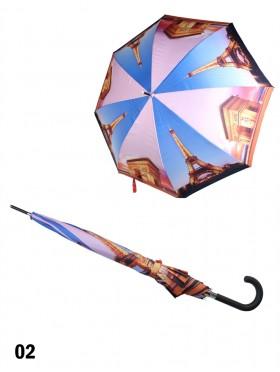Manual Eiffel Tower Stick Umbrella