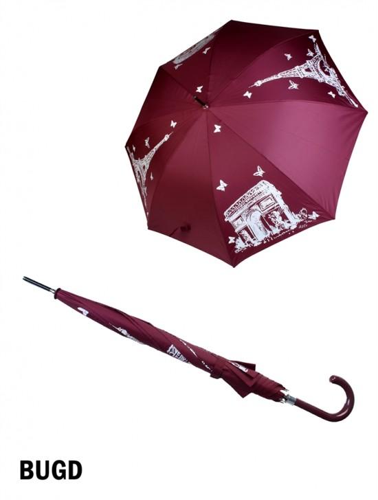 Manual Eiffel Print Stick Umbrella