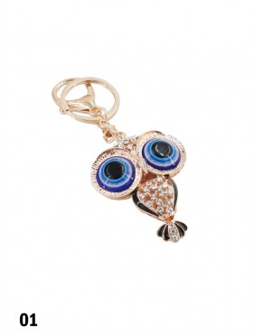 Jewelled Eye Owl Keychain