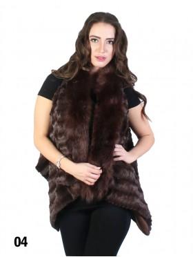 Premium Faux Fur Striped Vest