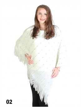 Sparkly Dotted Knitted Poncho
