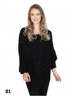 Asymmetrical Poncho W/Sleeves